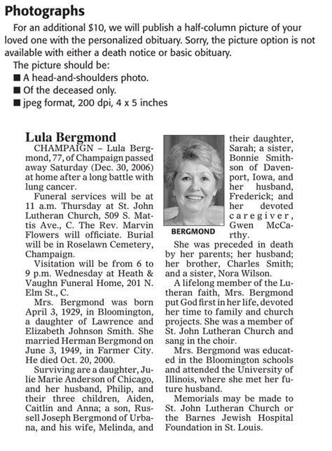 obituary templates       word