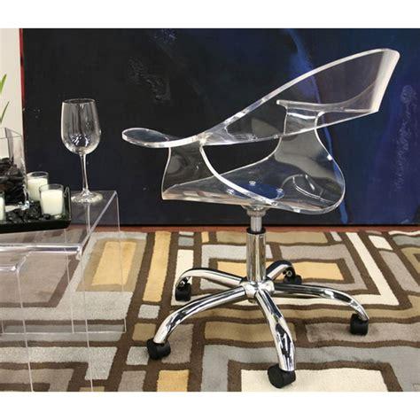 elia clear acrylic swivel office chair dcg stores