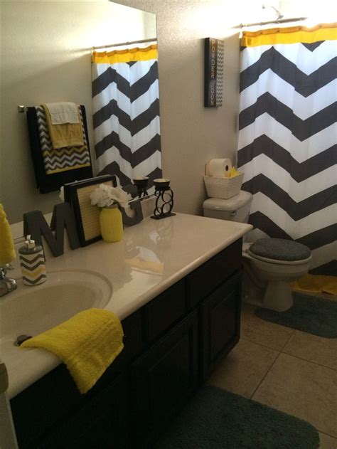 gray yellow and white bathroom accessories pin by nickii morris on for the new house