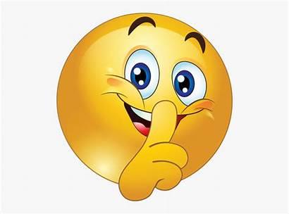 Quiet Please Smiley Emoji Shhh Emoticon Clipart