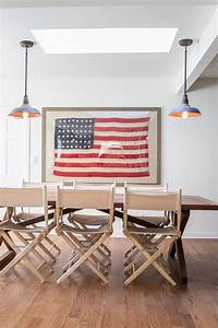 at home with eden passante a beautiful mess With kitchen cabinets lowes with vintage american flag wall art