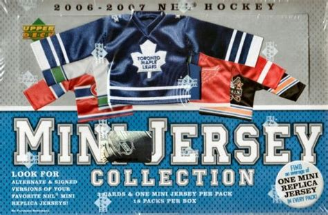 2006 07 upper deck mini jersey collection hockey hobby box