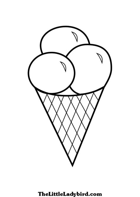 ice cream coloring pages thelittleladybirdcom