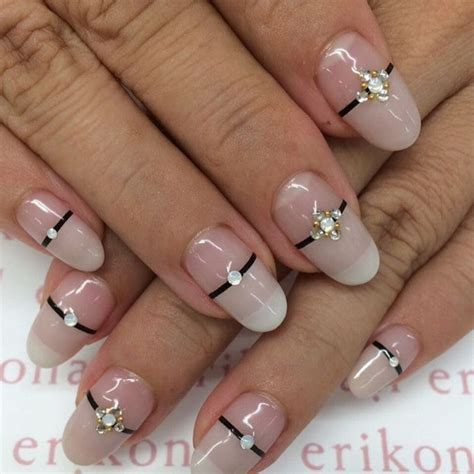 cute french nail designs  celebrate bastille day