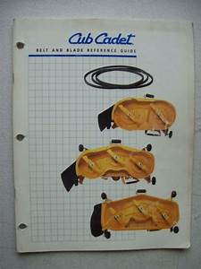 Original Cub Cadet Belt And Blade Reference Guide Manual