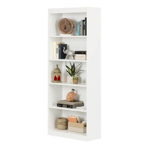 South Shore White Bookcase by South Shore 5 Shelf White Bookcase Ebay