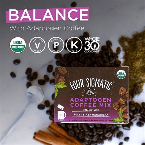 Four sigmatic adaptogen coffee contains key natural ingredients including: Four Sigmatic Adaptogen Coffee - USDA Organic Coffee with Tulsi & Astragalus - Organic, Vegan ...