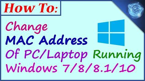amac address change how to change mac address in pc tricksworld