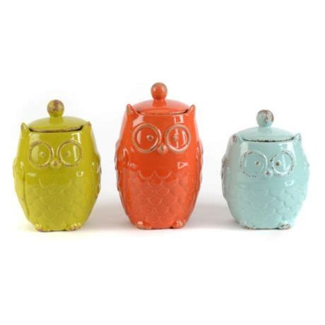 owl canisters for the kitchen 96 best images about canisters on pinterest ceramics rooster decor and fleur de lis