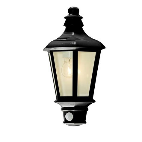 litecraft 1 light outdoor wall half lantern garden pir motion sensor anthracite ebay