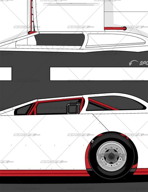race car template generation 1 dirt late model template school of racing graphics