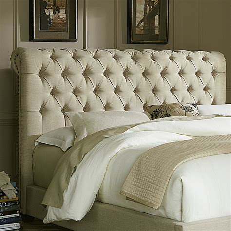 Upholstered Headboards by Upholstered Headboard Tufted Details Scotchgard Protected