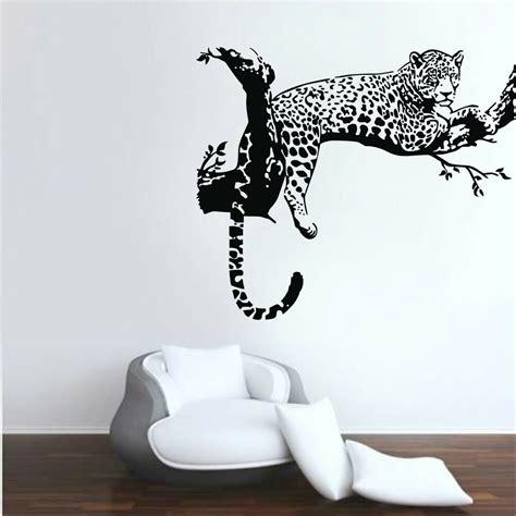 wall applique leopard animals wall stickers vinyl wall decals room