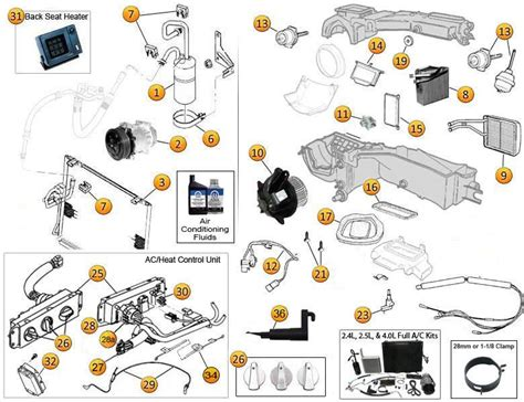 Air Conditioning Heating Parts For Wrangler