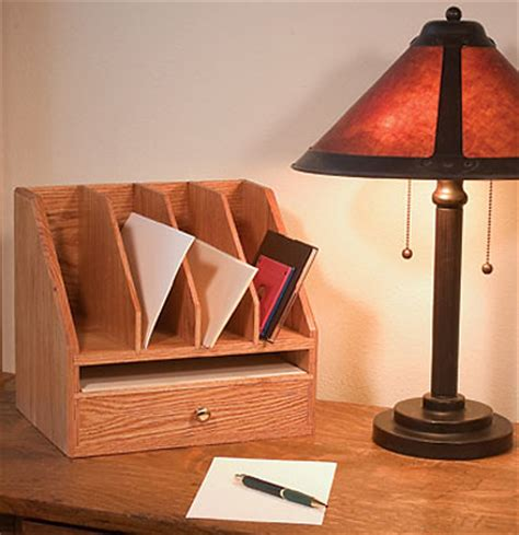 plan  simple desk organizer finewoodworking