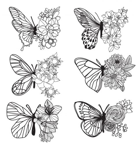 tattoo art butterfly hand drawing  sketch   art