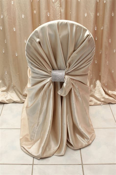 chagne satin chair cover right choice linen