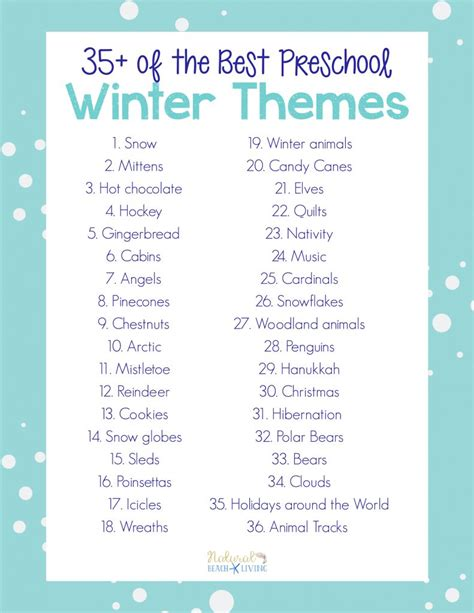 35 best winter preschool themes and lesson plans 905 | Preschool Winter Themes PDF 791x1024