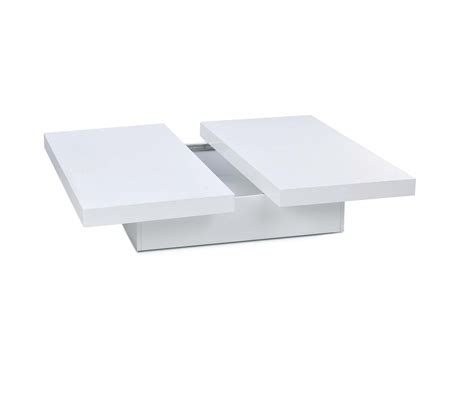 dreamfurniture 1005c modern white lacquer coffee table