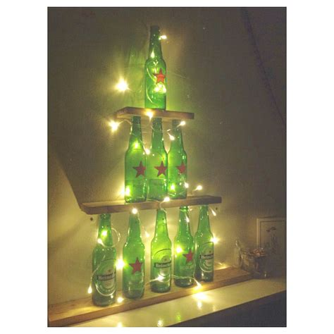 heineken christmas bottle diy heineken tree manuales heineken tree and diy ideas