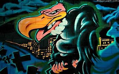 Graffiti Wallpapers Vulture Backgrounds Desktop Wallpapersafari Paintings
