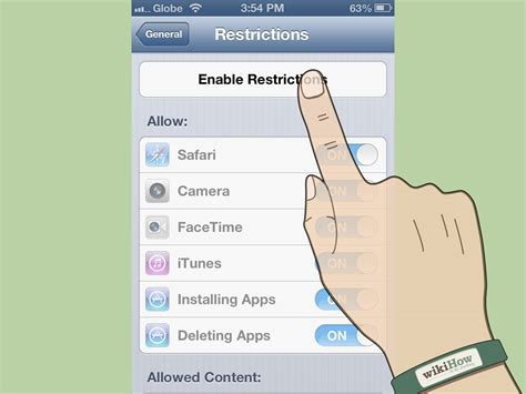 restrictions on iphone how to add restrictions to an iphone 7 steps with pictures
