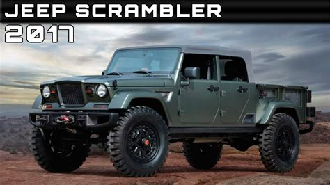 2017 Jeep Scrambler Review Rendered Price Specs Release