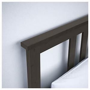 Lit Bois Massif Ikea : hemnes cadre de lit brun noir 140 x 200 cm ikea ~ Teatrodelosmanantiales.com Idées de Décoration