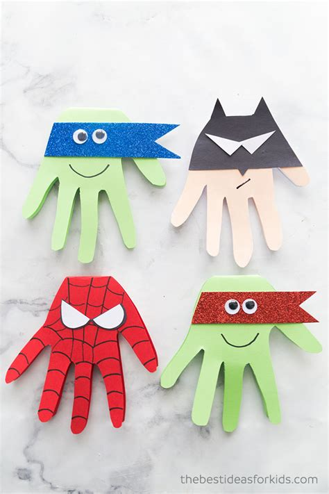 superhero craft superhero handprints   ideas