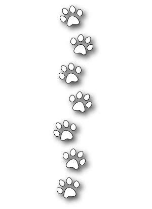 memory box dies dog paw border - Google Search   Dog