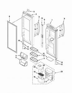 Refrigerator Door Parts Diagram  U0026 Parts List For Model