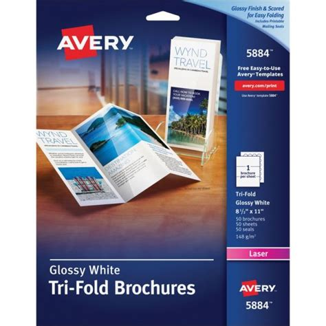 Avery Tri Fold Brochure Paper Avery Tri Fold Brochure Paper Ave5884 Officesupply