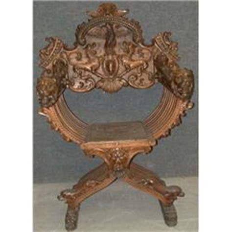 une chaise curule du 19e siècle de style renaissance le