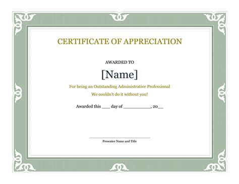 Template For A Certificate Of Appreciation by Professional Business Certificate Template Exles Thogati