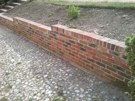 brick retaining wall dougcusdenlandscapes 100 feedback landscape gardener bricklayer stonemason in petersfield