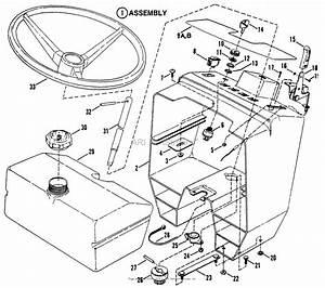 Snapper Elt125g33ab 33 U0026quot  12 5 Hp Euro Tractor Series  U0026quot A U0026quot  Parts Diagram For Steering Wheel