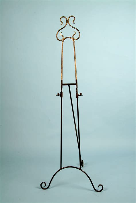 Decorative Floor Easel Stands by Decorative Metal Floor Easel Gold Tone Finish Arizona