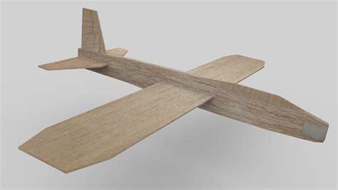 blend balsa wood toy airplane