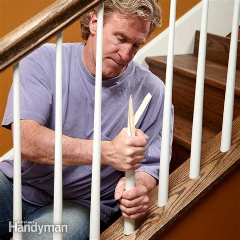 install stair spindles  family handyman