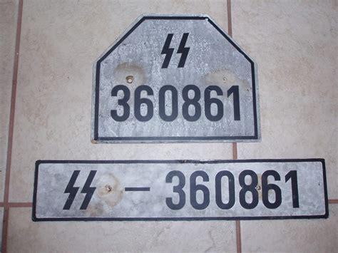 ss  wehrmacht license plates