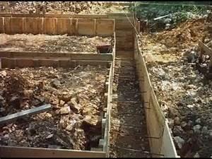 terrassement et fondations partie 1 youtube With comment faire des fondations de maison