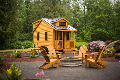 shed style atticus tiny house rental at mt tiny house in