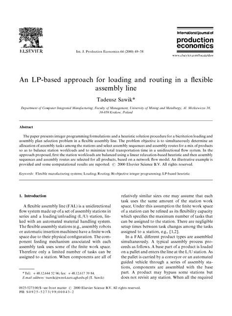 دانلود مقاله : رویکرد مبتنی بر LP-برای بارگیری و مسیریابی در یک خط