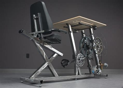 Stationary Bike Pedals For Desk by Big Rig Pedal Powered Desk