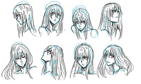 Head Perspectives By Nyuhatter On Deviantart Drawings