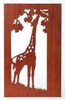 giraffe scroll  pattern woodworking plans