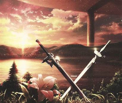 Sword Anime Sao Intro Lambent Swords Espada
