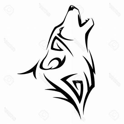 Wolf Tribal Vector Howling Drawing Head Tattoo