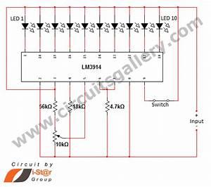 U0026gt  Circuits  U0026gt  Led Dot Display Based Battery Charge Level