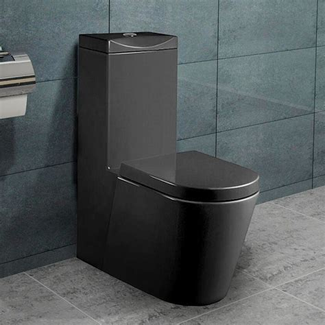 stand wc spülrandlos mit spülkasten stand wc toilette mit sp 252 lkasten nano beschichtung soft schwarz a380b ebay